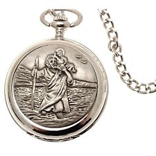 St Christopher Pocket Watches Double Hunter Mechanical