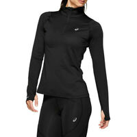 Asics Womens Thermopolis Half Zip Running Top - Black Sports Warm Breathable