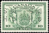 Mint H Canada F+ Scott #OE10 1942 10c Perforated Special Delivery Stamp.
