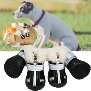 Boots For Dog Waterproof Winter Shoes Anti-Slip Rain Footwear Thick War T1Y5