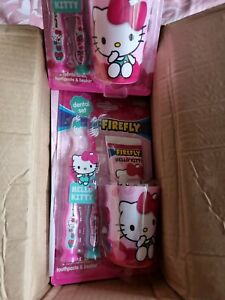 Hello Kitty children's Tooth Brush and Tooth paste set / NEW / SEALED / FAST P&P