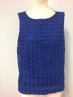 David Lawrence Blue lace front top Size M Womens