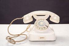 altes Telefon W48 Post weiss elfenbein 1960 Wählscheibe funktioniert (siehe Text