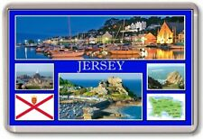 FRIDGE MAGNET - JERSEY - Large - Channel Islands St Helier TOURIST