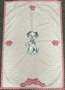 Walt Disney 101 Dalmatians Dog Pink Baby Nursery Blanket