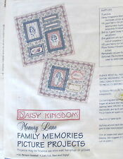 Memory Picture transfer cotton fabric panel Daisy Kingdom wallhanging pillow