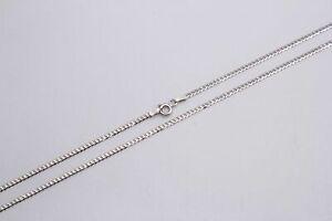 "14K Solid White Gold Cuban Link Chain Necklace 2mm-4mm Men's Women Sz 16""-30"""