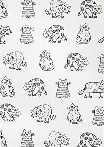 Geschirrtuch Halbleinen, Katzenreihe Katzen Fa. Kracht