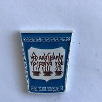 Diner Coffee Cup. Greek Diner. NYC.  Emoji Lapel Pin ! Free shipping!