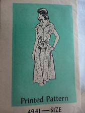 vintage 50's or 60's Mail Order Dress Pattern Size 12 bust 34 Inch Darling Uncut