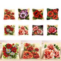 Knüpfkissen Knüpfpackung Kunsthandwerk Latch Hook Kit, Blumen Muster