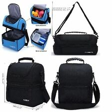 THERMAL Insulated Lunch Box Adjustable Strap Large Cooler Tote Bag for Men/Women
