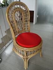 Stuhlkissen rund 40 Ø cm x 4 cm Sitzkissen rot , 50% Baumwolle 50% Polyester