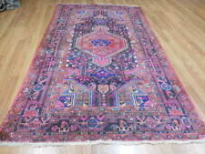 New listing Veg Dye Antique Kurdish Bijar Karache Heriz Serapi Viss 4.4x7.4 Estate Sale Rug
