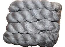 100g Luxury Shiny SILK worsted weight soft yarn Silver