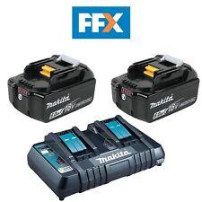 Makita bl1860x2dc18rd 2x 18v 6ah LXT Li-ion Genuino Makstar Batería Y CARGADOR