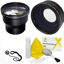 3.6X ZOOM LENS + WIDE ANGLE MACRO LENS KIT FOR CANON EOS REBEL T3I T5I T1 T2 20D