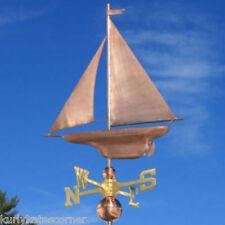 "Copper ""Sailboat "" Weathervane Made In Usa #376"