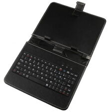 9'' 9 inch Leather USB Keyboard Stand Case Cover for Android Tablet PC iPad MID