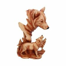 More details for new natural song wolf figure statue nemesis now gift h5036