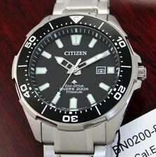Citizen TITAN ECO-DRIVE Solar Diver's 200 Taucheruhr Herrenuhr BN0200-81E