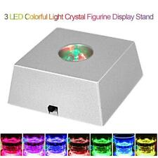 LED Square Unique Rotating Crystal Colorful Light Base Electric Display Stand