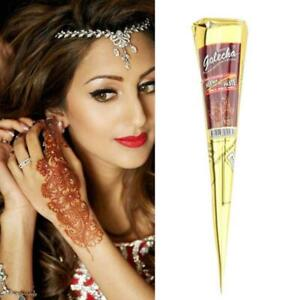 Natural Herbal Heena Mehndi Cones Temporary Tattoo Kit Body Henna Mehandi