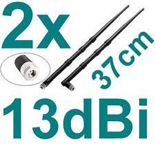 2x Stück 13dBi Router Antenne Wlan Asus Fritz!Box AVM WiFi AP Stab Knick RP-SMA