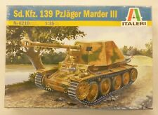 Italeri 1/35 Sd Kfz Panzerjager Marder III German Tank Plastic Model Kit 6210