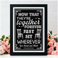 Personalised Wedding No Seating Plan Wedding Ceremony Signs Guests Seating Plan