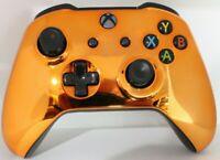 Microsoft Xbox One/S/X Bluetooth Modded Controller w/Chrome Orange Face