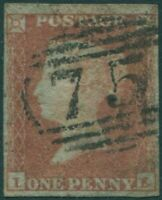 Great Britain 1854 SG17 1d red-brown QV **IE blued paper FU
