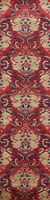 Abstract Wool/ Silk Floral Oriental Runner Rug Hand-Knotted 3x12 New Red Carpet