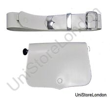 More details for music card pouch cross belt white leather r812