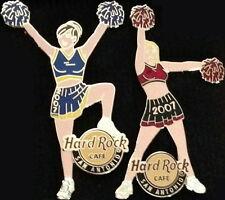 Hard Rock Cafe SAN ANTONIO 2007 Sexy CHEERLEADER PINS #1&#2 PomPoms HRC #35944-5