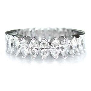 4.60 F SI MARQUISE CUT DIAMOND ETERNITY ENGAGEMENT BAND