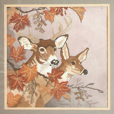 """Something Special """"Fall Deer"""" Embellished Cross Stitch Kit Cabin Lodge Hunting"""