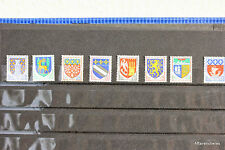 PETIT LOT DE 8 TIMBRES - BLASON DES REGIONS - FRANCE