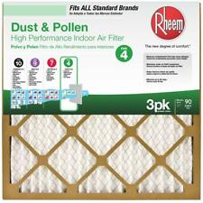 Rheem 16 in. x 25 in. Basic Household Pleated Fpr 4 Air Filter (3-Pack)