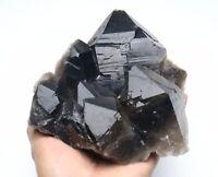 5.1LB Natural Beauty Rare Black Quartz Crystal Cluster Mineral Specimen