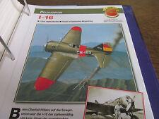 Faszination 13 49 Polikarpow I 16 Jagdeindecker UDSSR