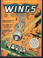 Wings 25 Sept.1942 Fiction House World War Two Cover GGA Good Girl Art