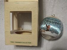 Hallmark Tree Trimmer Collection Marty Links Christmas Ornament 1980 Satin