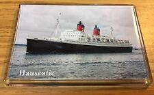 German Atlantic Line HANSEATIC Photo Fridge Magnet Cruise Ship Ocean Liner