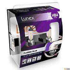 2x HB4 Lunex PLASMA BLUE 9006 12V 55W Car Headlight Halogen Bulbs P22d 4200K