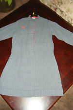 Vintage Kate Greenaway Girls Youth Pre-Teen size 12 Top Gray Pinstriped