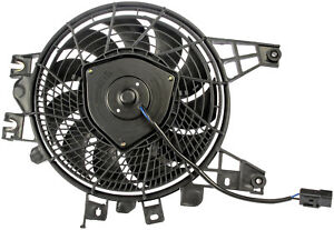Right A/C Condenser Fan Assembly (Dorman 620-548) w/ Shroud, Motor & Blade