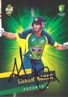 ✺Signed✺ 2015 2016 AUSTRALIAN Cricket Card SHAUN MARSH Big Bash League