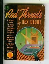 RED THREADS by Rex Stout, rare LA Bantam Book #A1 pulp vintage pb
