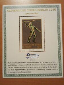 Werbemarke BRD 1916  Olymp. Spiele Berlin Speerwerfen